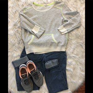 Grey with Neon Trim Pull Over